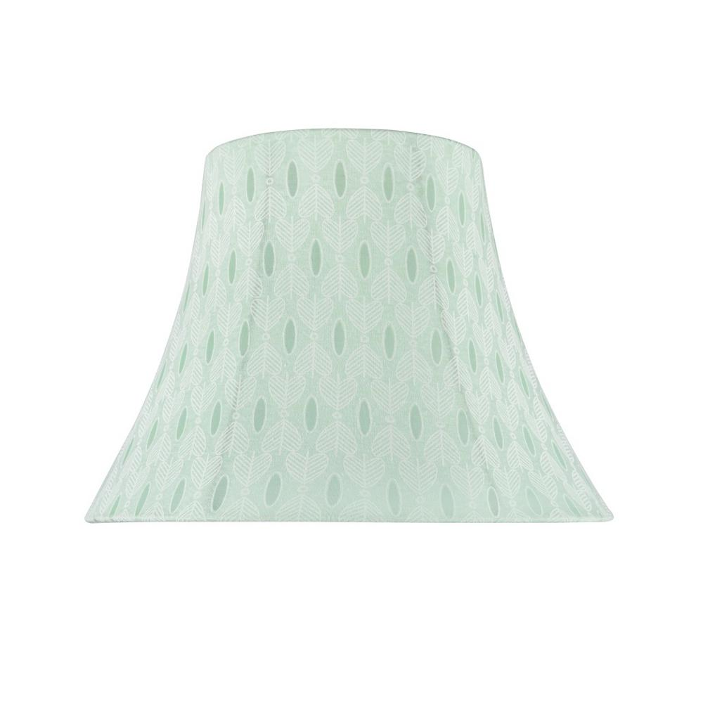 13 in. x 9.5 in. Light Green and Leaf Pattern Bell
