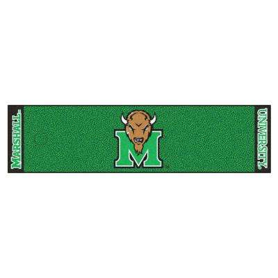 NCAA Marshall University 1 ft. 6 in. x 6 ft. Indoor 1-Hole Golf Practice Putting Green