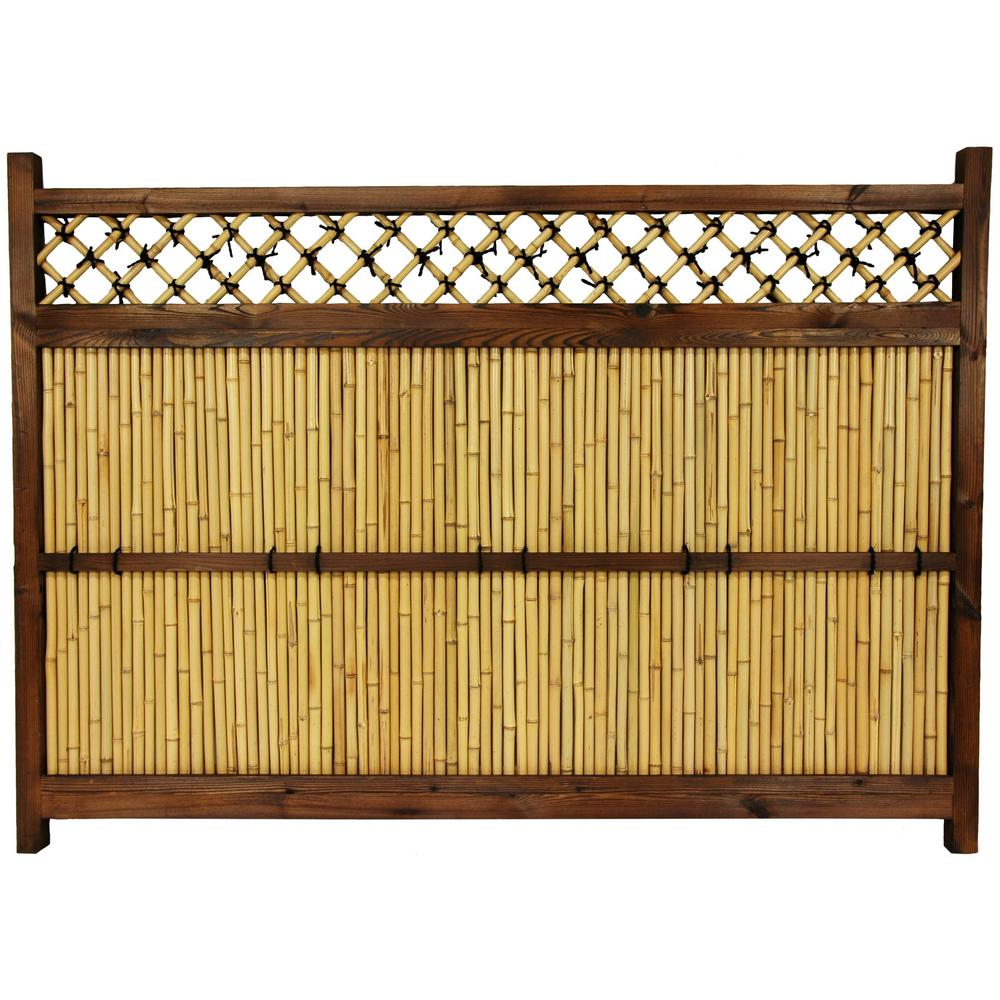 Split Bamboo Fence Brown Garden Fencing Landscaping The Home Depot