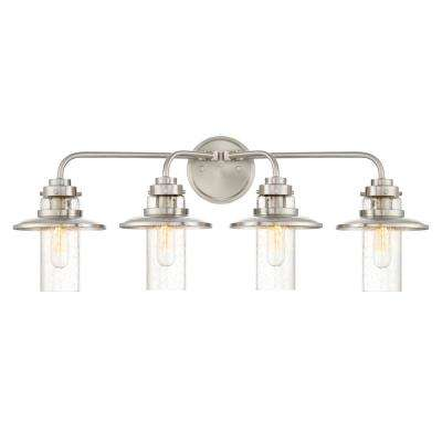 Dover 4-Light Satin Platinum Interior Bath Bar Light