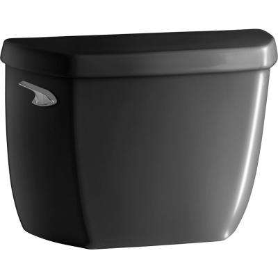 Wellworth Classic 1.0 GPF Single Flush Toilet Tank Only in Black Black