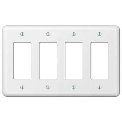 Devon 4 Decorator Wall Plate - White