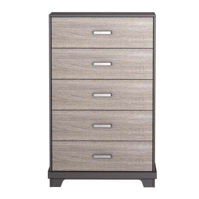 Manhattan 5-Drawer Java Brown with Sonoma Chest
