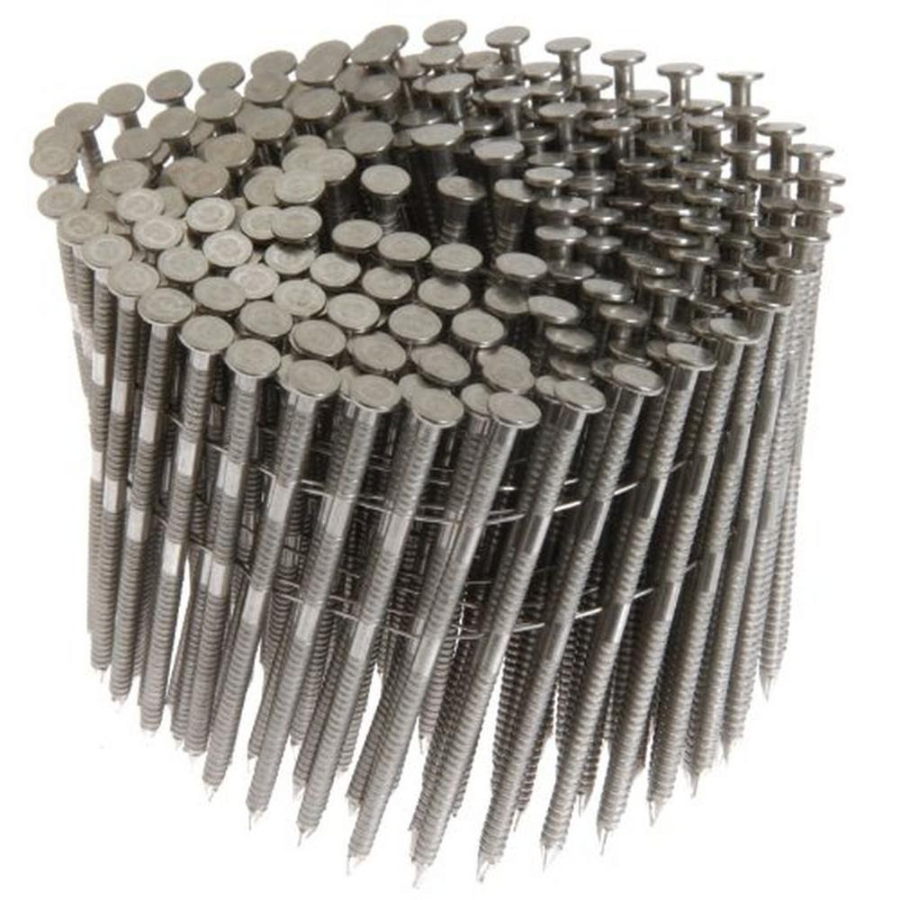 15 Degree 2 In X 0 090 In Wire Coil Ring Shank 304 Stainless Steel Siding Nails 3 600 Per Box Maxc62820 The Home Depot