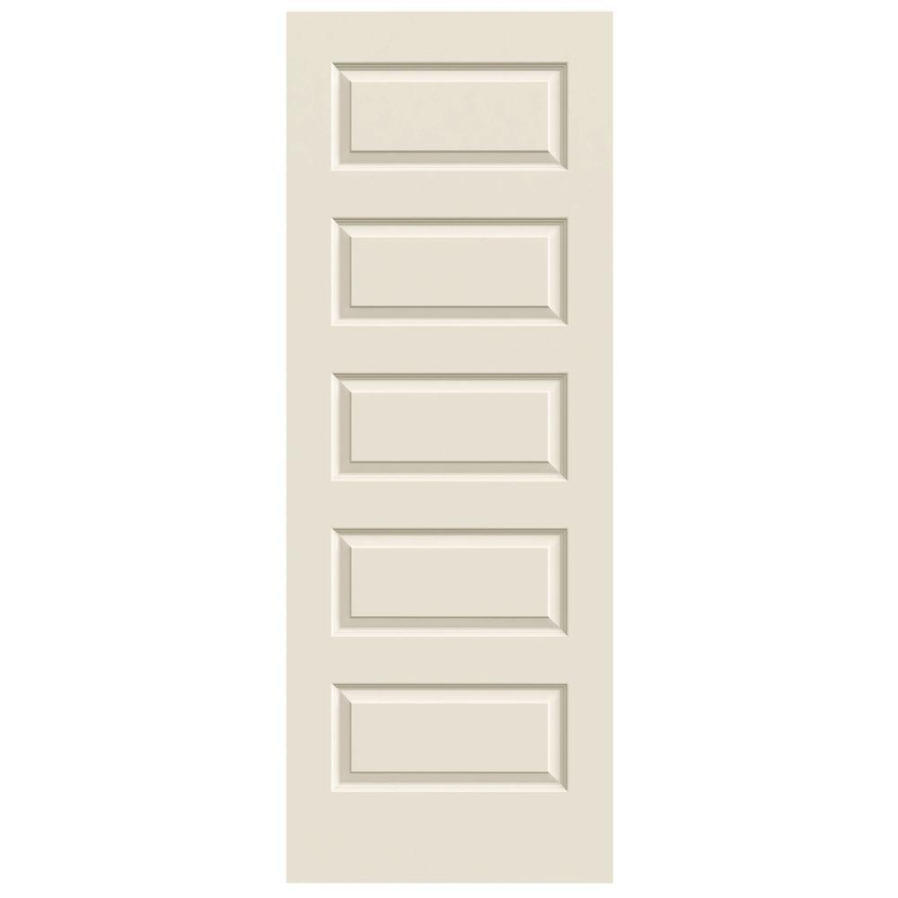JELD WEN 32 In. X 80 In. Rockport Primed Smooth Molded Composite MDF