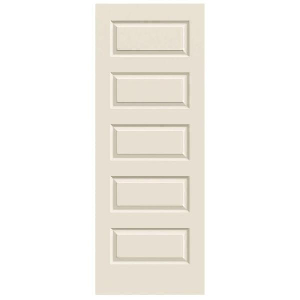 32 in. x 80 in. Rockport Primed Smooth Molded Composite MDF Interior Door Slab
