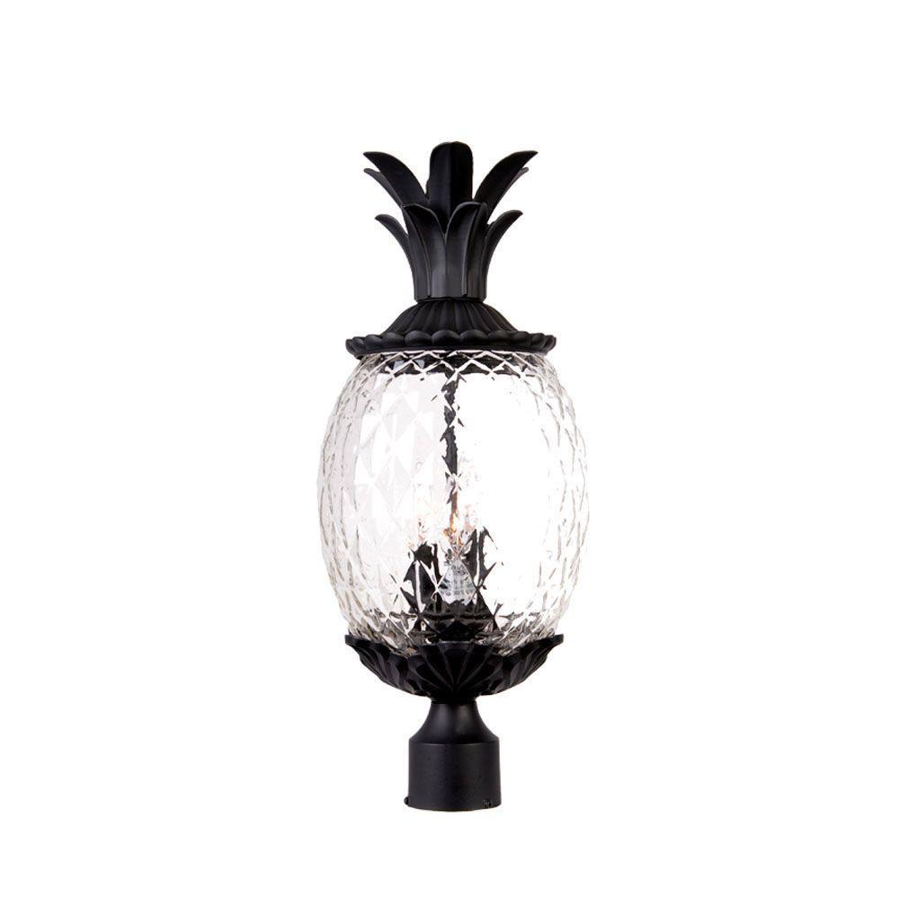 Acclaim Lighting Lanai 3-Light Matte Black Outdoor Post-Mount Light Fixture