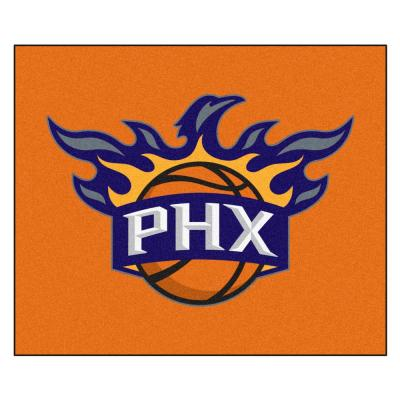 NBA Phoenix Suns Orange 6 ft. x 5 ft. Indoor/Outdoor Tailgater Rug