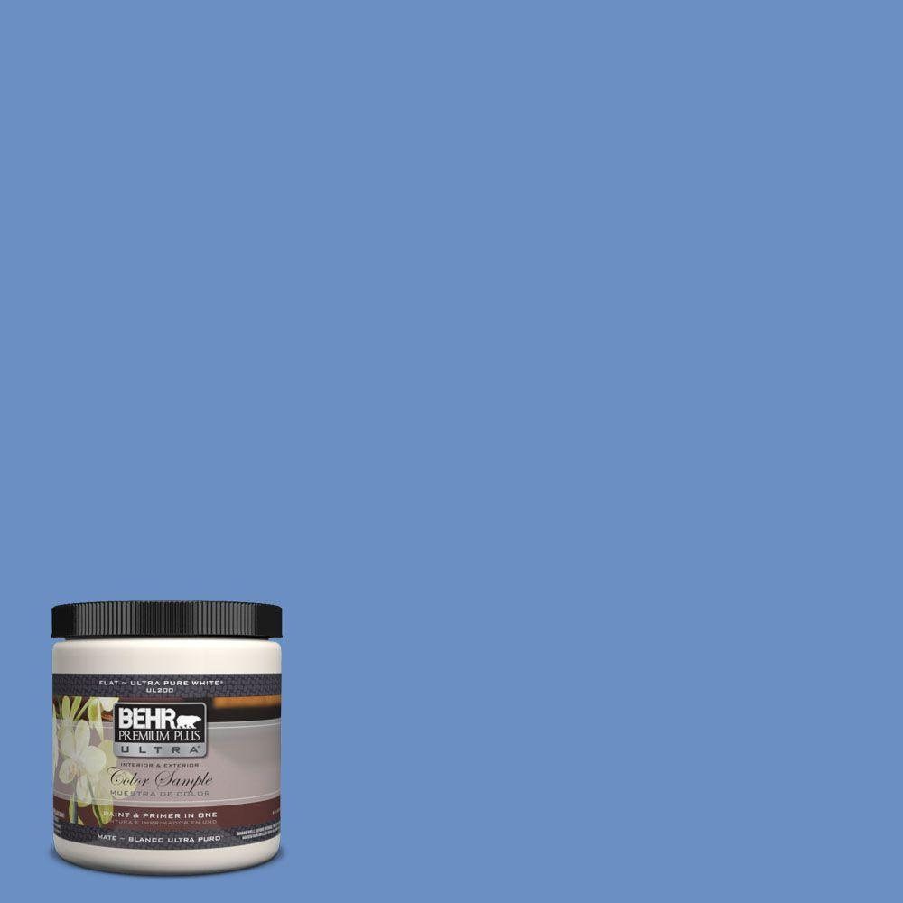 BEHR Premium Plus Ultra 8 oz. #590B-5 Purple Hyacinth Interior/Exterior Paint Sample