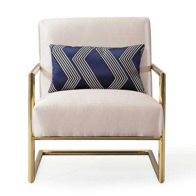 Elle Beige Linen Chair