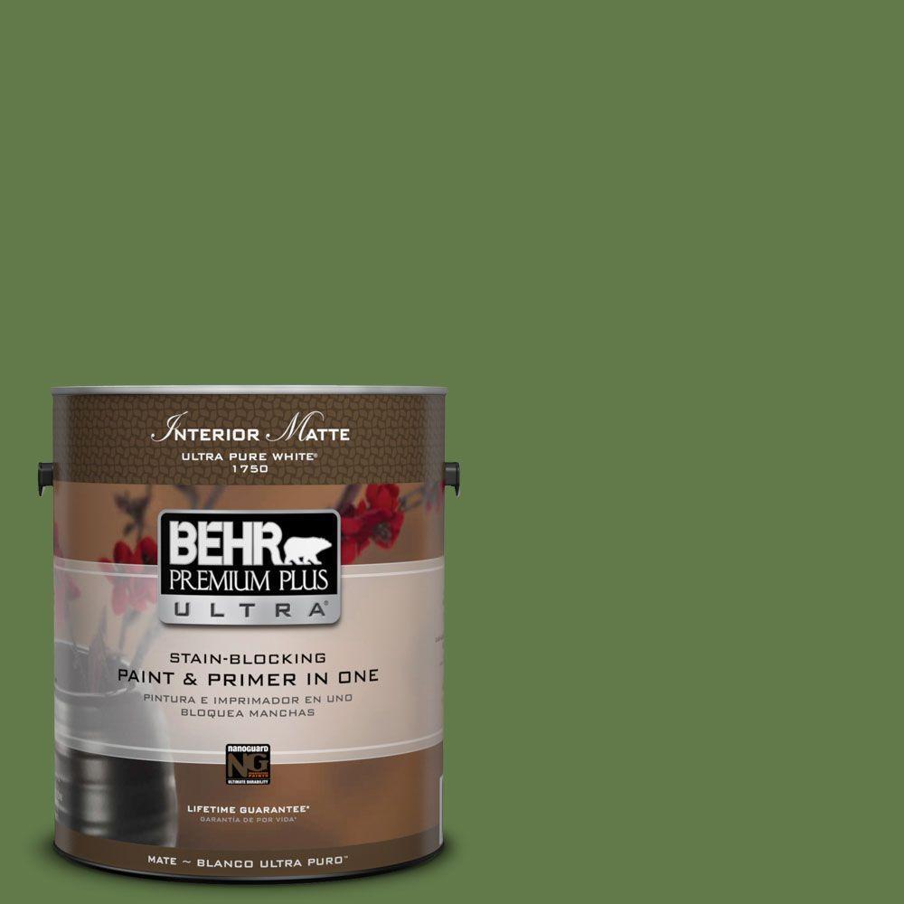 1 gal. #M370-7 Mown Grass Matte Interior Paint