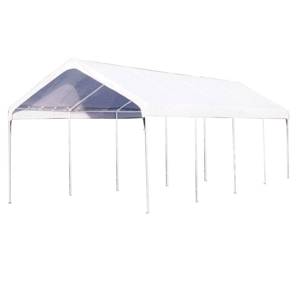 King Canopy 10 ft. W x 27 ft. D Universal Canopy in White