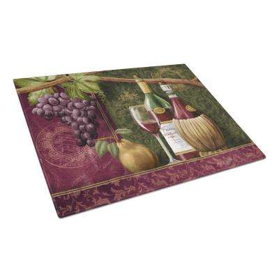 Wine Chateau Roma Tempered Glass Large Cutting Board