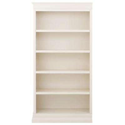 Louis Philippe Modular Left Polar White Open Bookcase
