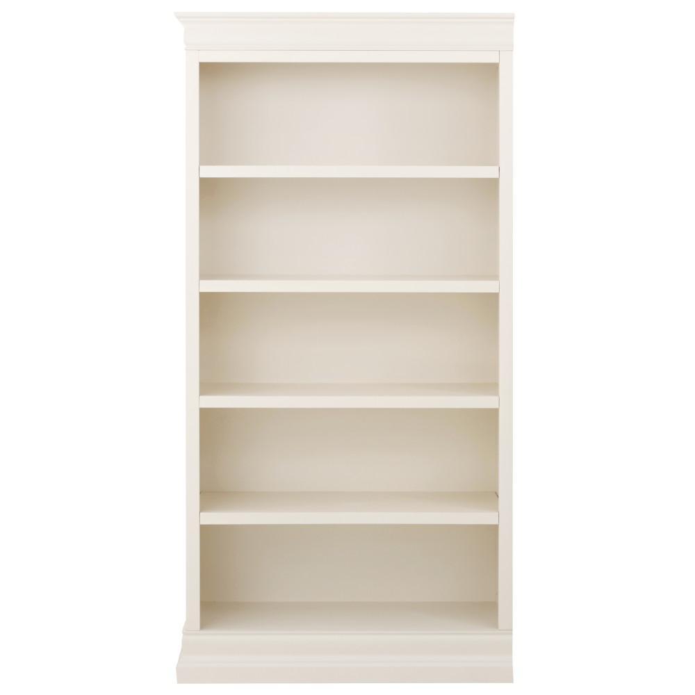 Home Decorators Collection Louis Philippe Modular Left Polar White Open Bookcase