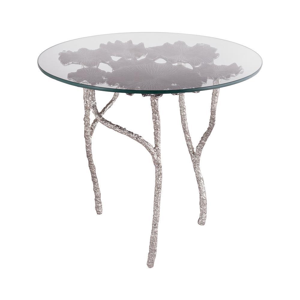Titan Lighting Victoria Antique Nickel Side Table Tn
