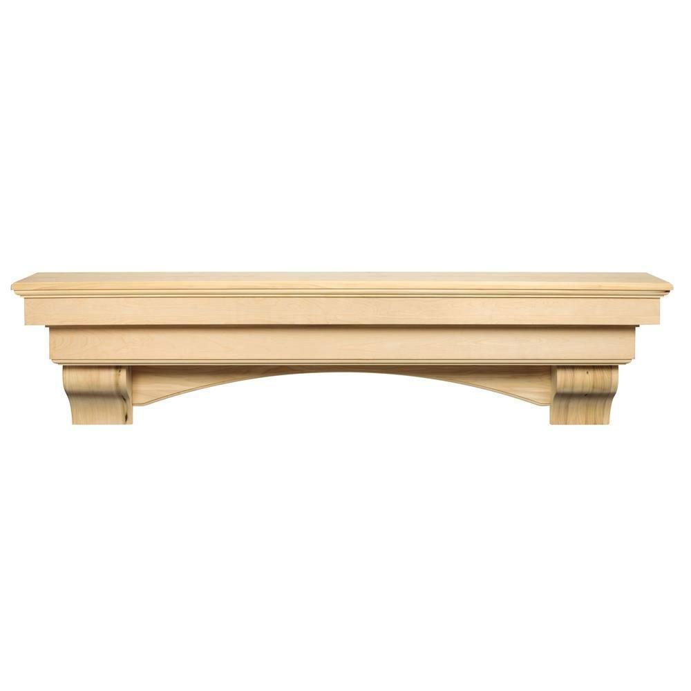 Cabinet Mantel: Pearl Mantels The Auburn 5 Ft. Unfinished Cap-Shelf Mantel