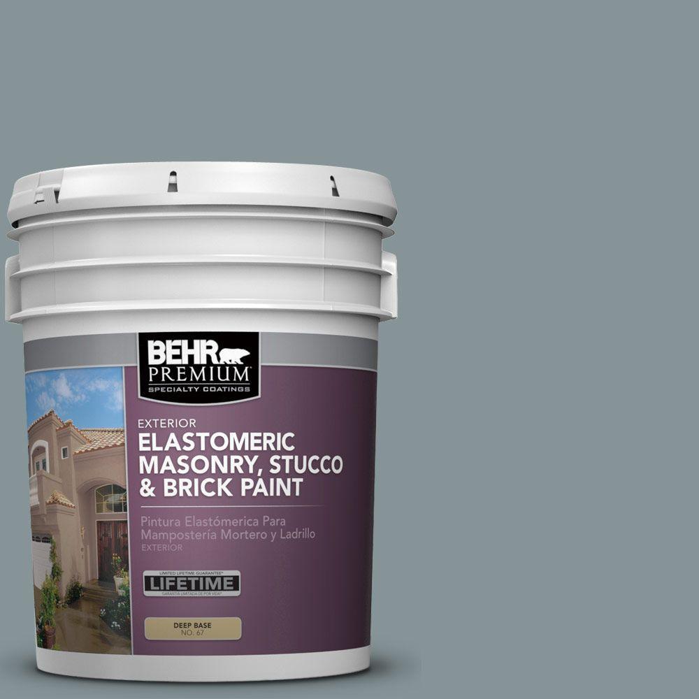 5 gal. #MS-68 Cape Storm Elastomeric Masonry, Stucco and Brick Exterior Paint