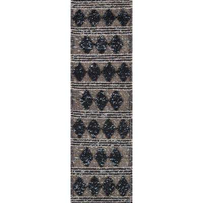 Andes Charcoal 2 ft. 3 in. x 8 ft. Indoor Runner Rug