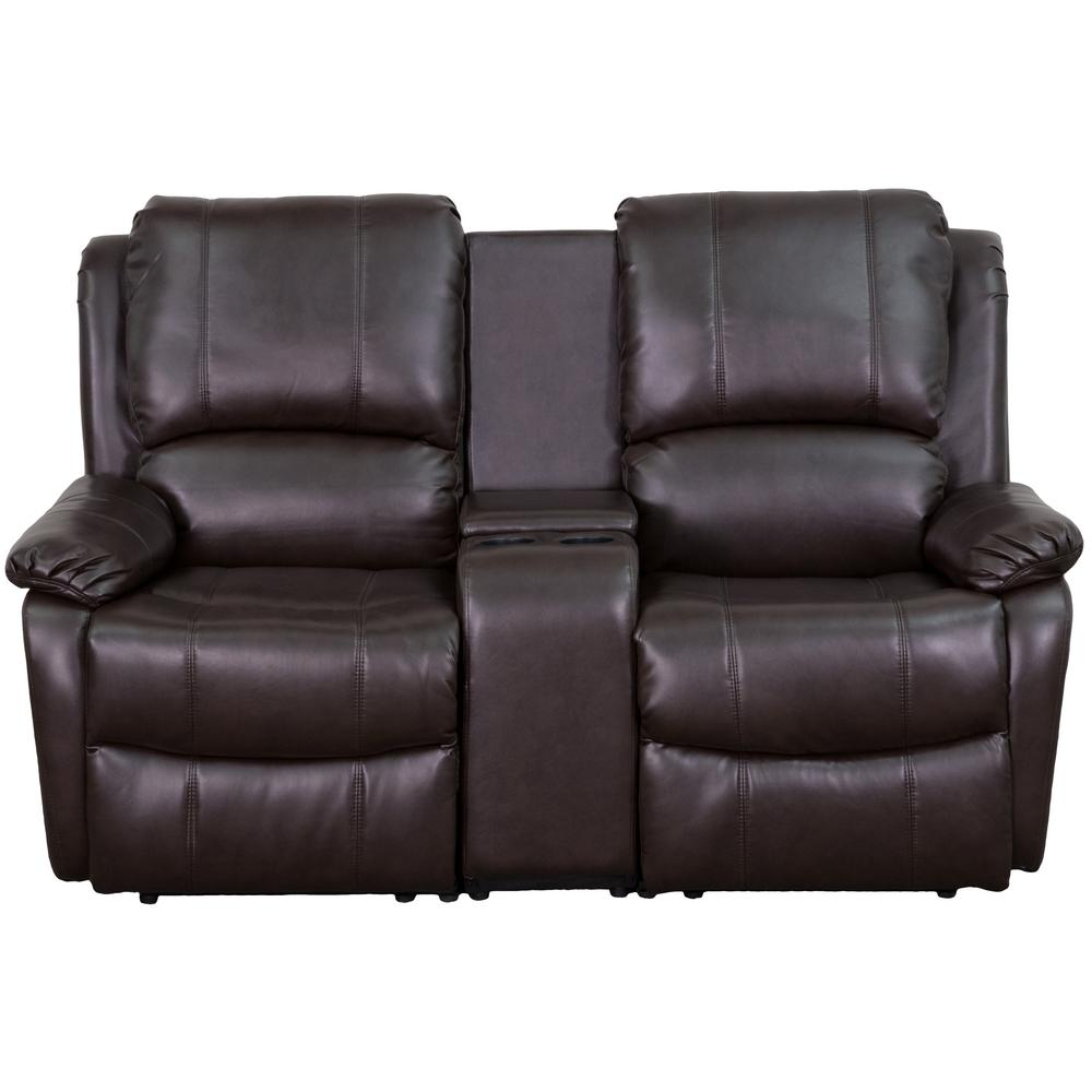 Carnegy Avenue Brown Faux Leather Seater Bridgewater Sofa Square Arms 22431