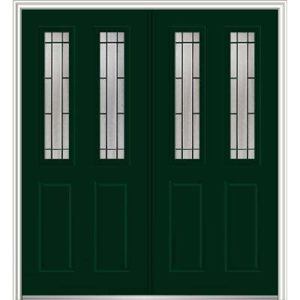 pick up today exterior prehung 2 lite doors with glass steel