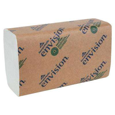 Envision White Single-Fold Paper Towels (4000 per Carton)