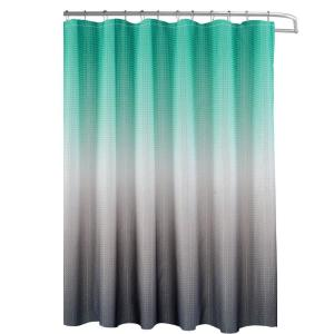 Turquoise Grey Shower Curtain With
