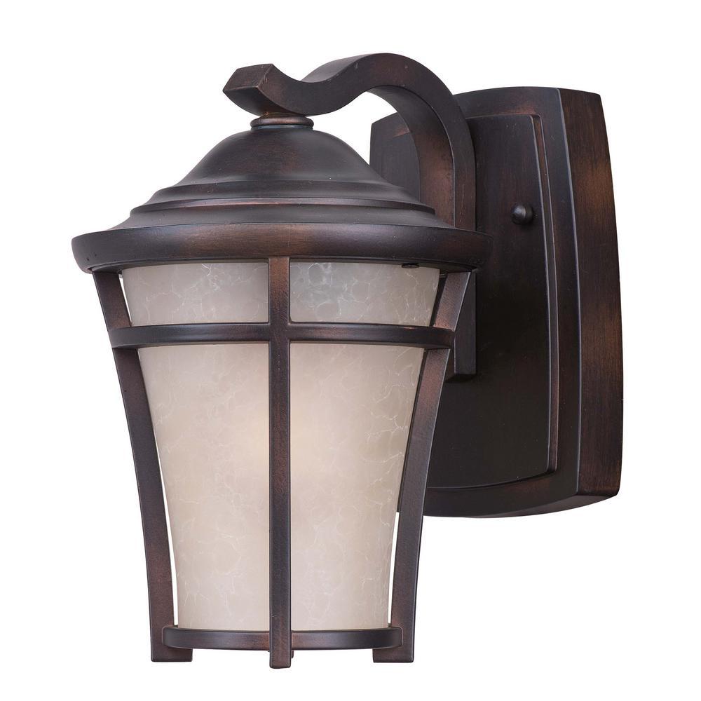 Balboa 6.5 in. W 1-Light Copper Oxide Outdoor Wall Lantern Sconce