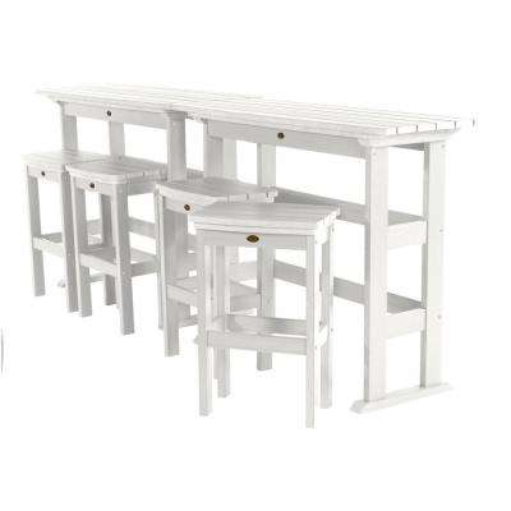 Lehigh White 6-Piece Plastic Rectangular Bar Height Outdoor Dining Set