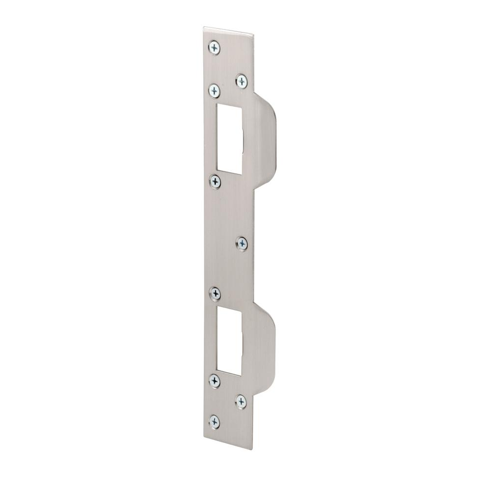 11 in. Steel Satin Nickel Security Latch Strike for 5-1/2 in.