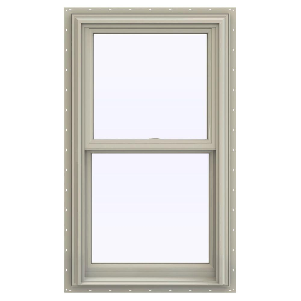 Jeld wen 23 5 in x 40 5 in v 2500 series double hung for 10 x 40 window