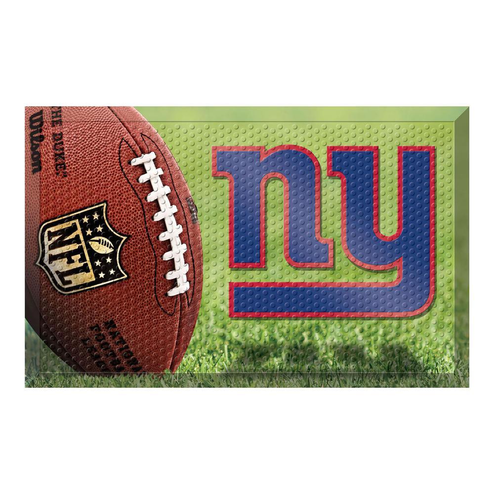 NFL - New York Giants 19 in. x 30 in. Indoor/Outdoor Scraper Mat Door Mat