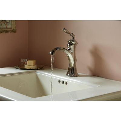 Devonshire Single Hole 1-Handle Water-Saving Bathroom Faucet in Vibrant Polished Nickel