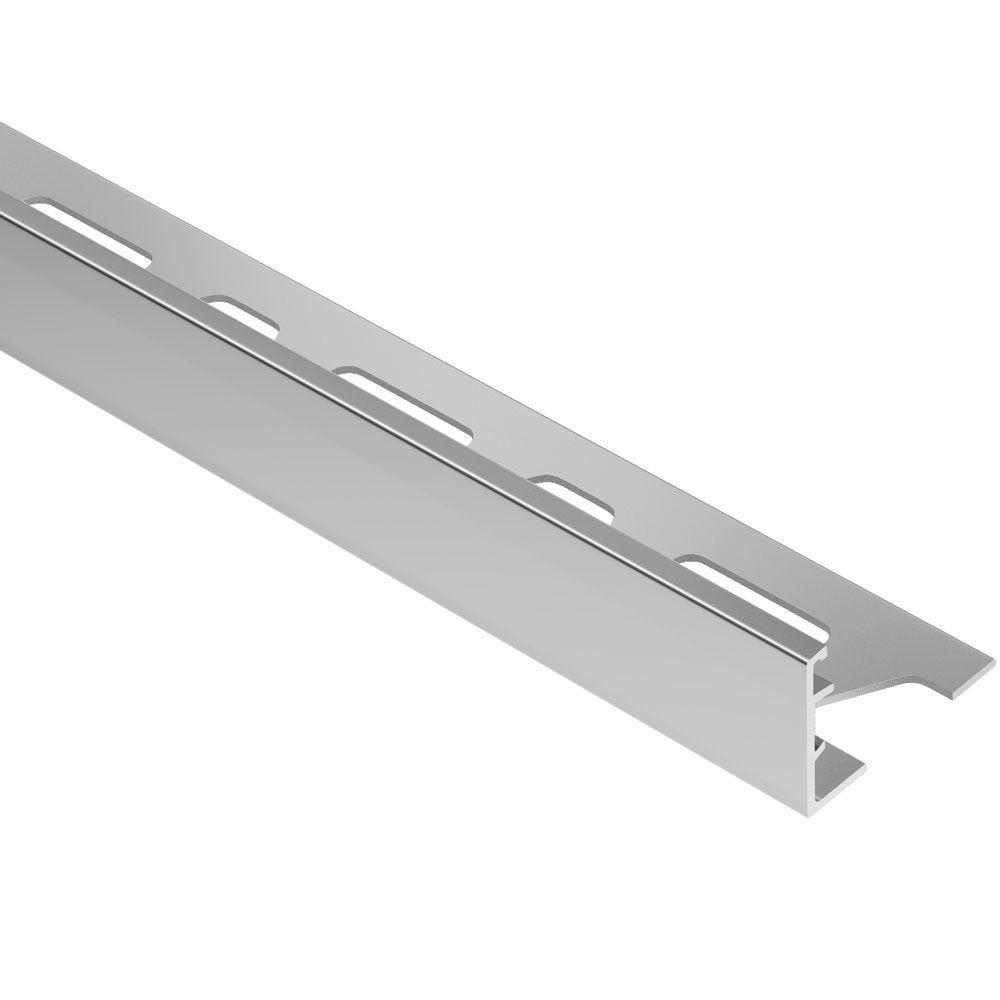 Schiene Aluminum 1 in. x 8 ft. 2-1/2 in. Metal L-Angle Tile Edging Trim