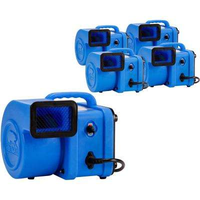 1/4 HP Mini Air Mover for Water Damage Restoration Carpet Dryer Floor Blower Fan in Blue (128-Pack)