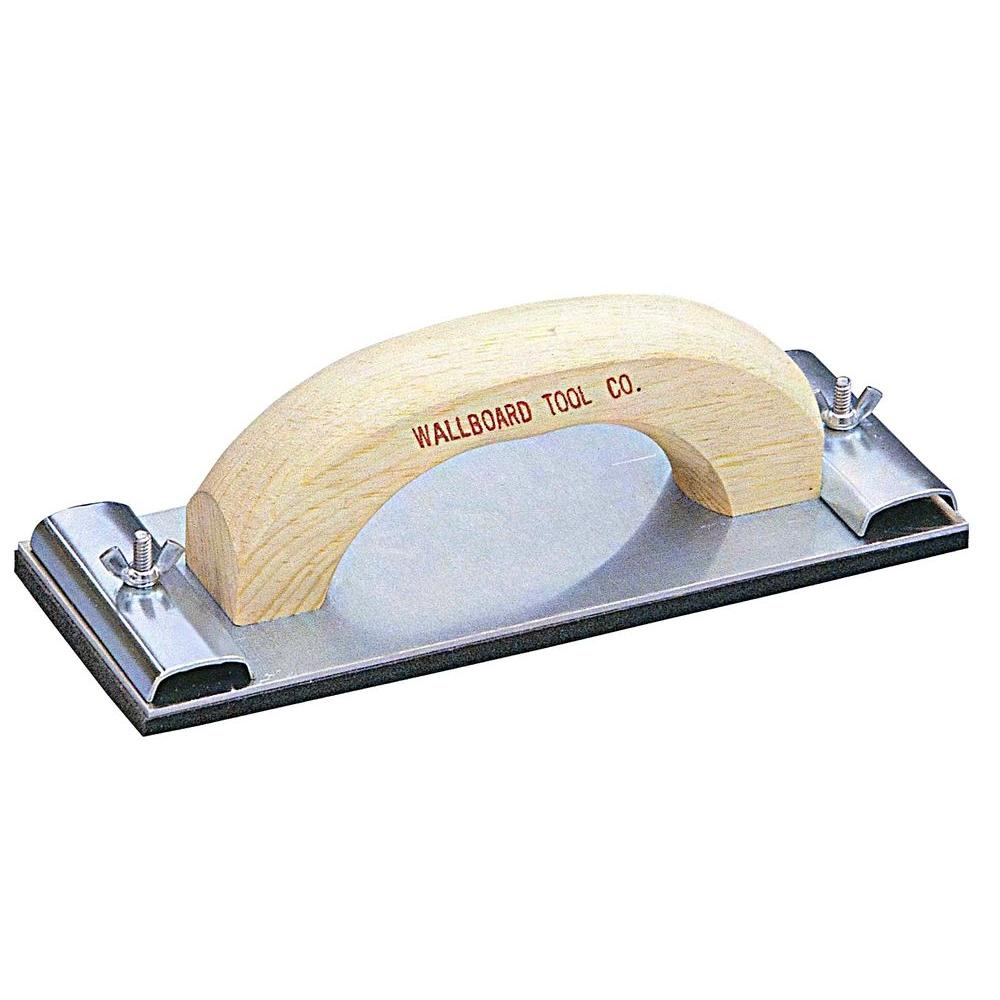 wal board tools 3 1 4 in x 9 1 4 in tempered aluminum base plate rh homedepot com Types of Hand Sanders Using a Hand Sander