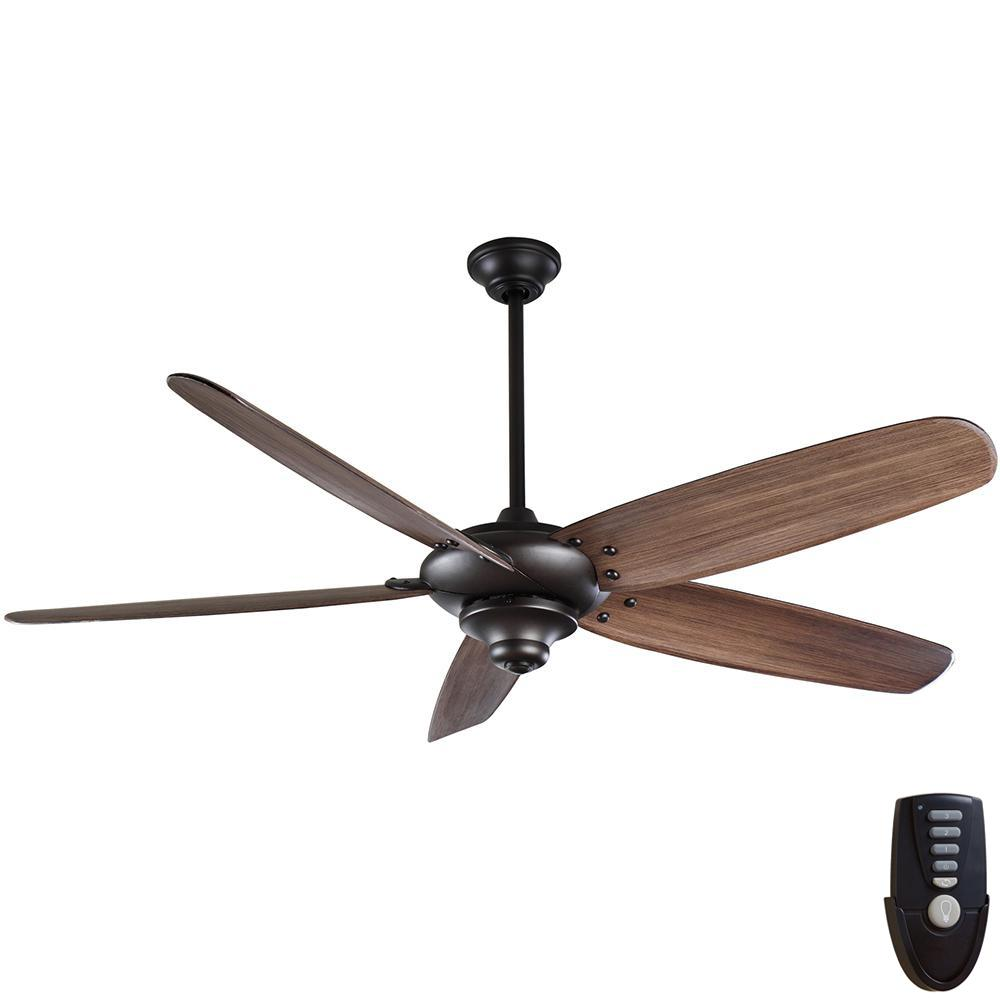 Home Decorators Collection Altura Ii 68 In Indoor Bronze Ceiling Fan With Remote Control 94468 The Home Depot