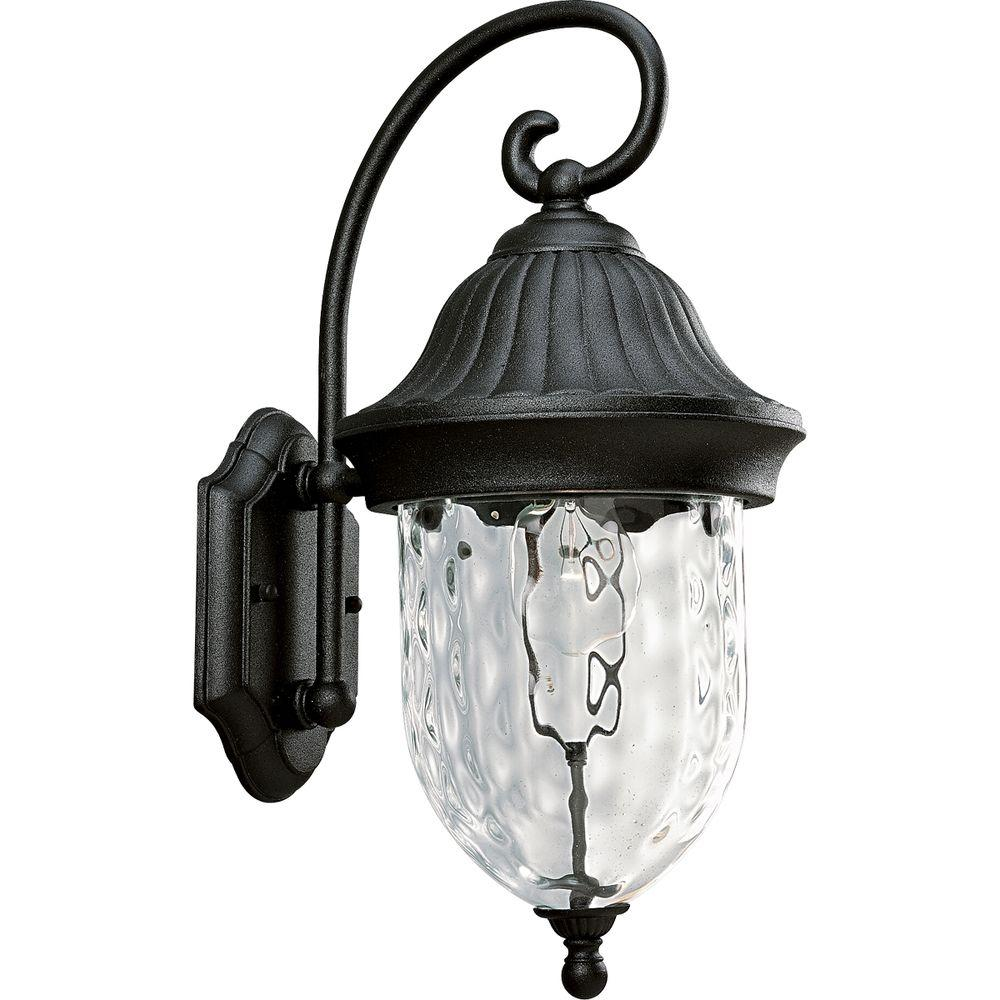 Progress Lighting Coventry Collection Textured Black 1 Light Outdoor Wall Lantern