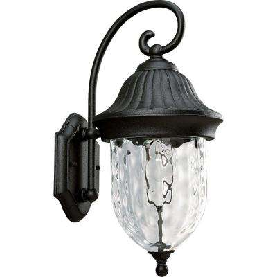 Coventry Collection Textured Black 1-Light Outdoor Wall Lantern