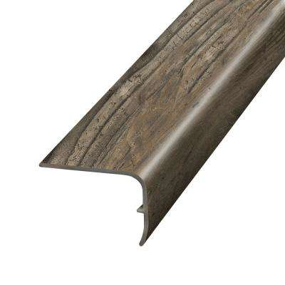 Reclaimed Wood Grey 1.32 in. Thick x 1.88 in. Wide x 78.7 in. Length Vinyl Stairnose Molding