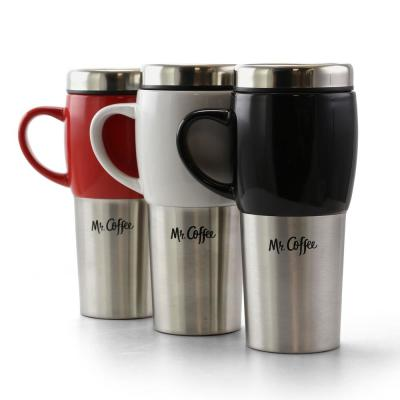 Traverse 16 fl.oz. Stainless Steel and Ceramic Travel Mug (Set of 3)