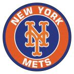 MLB New York Mets Orange 2 ft. x 2 ft. Round Area Rug