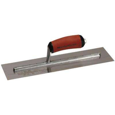 14 in. x 4 in. Finishing Trowel - Curved Durasoft Handle