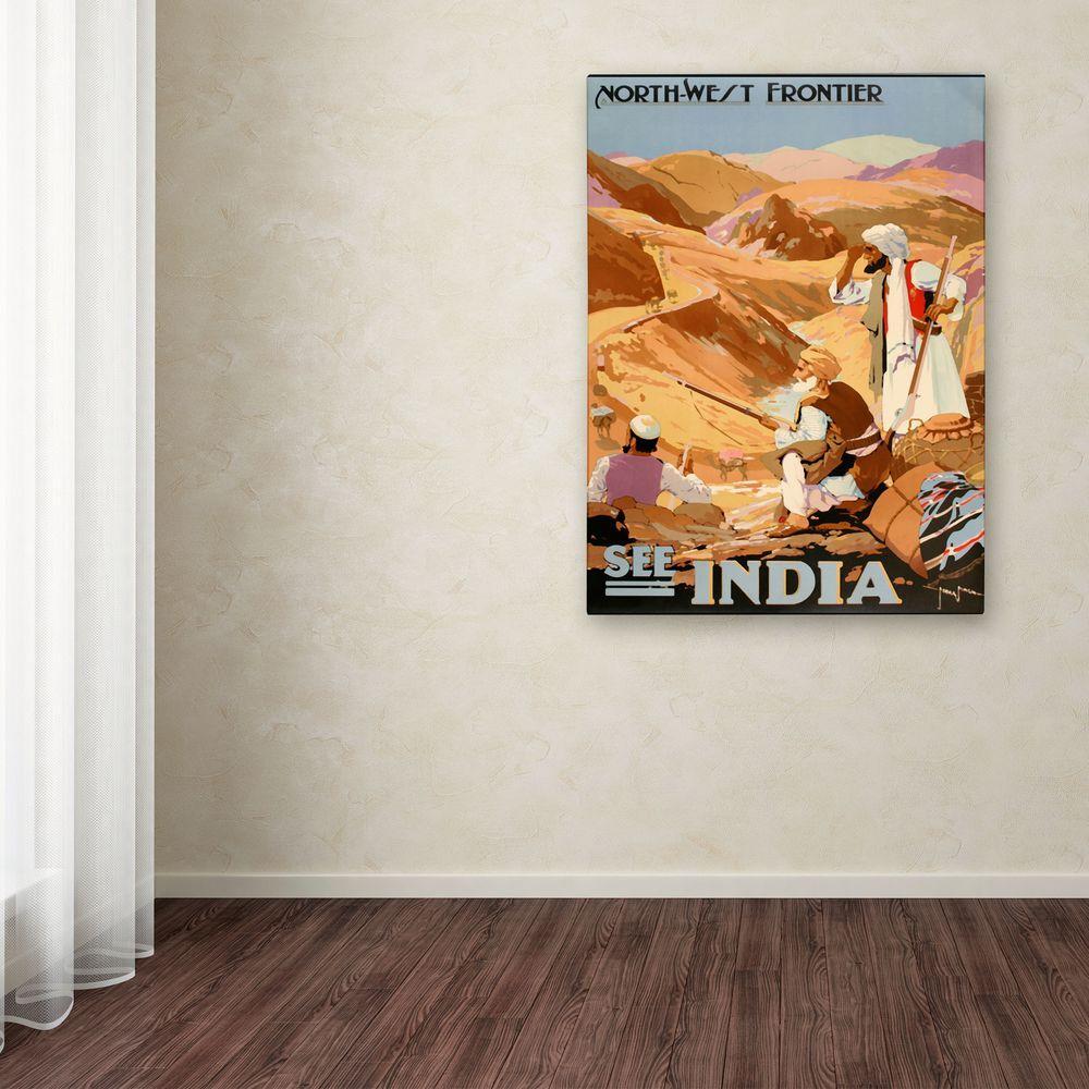 Home Depot Illuminated Canvas : Trademark fine art in see india canvas