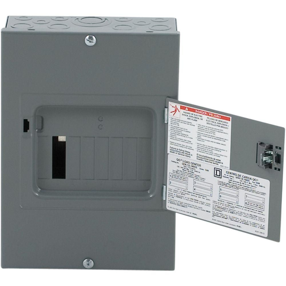 square d individual subpanels qo612l100ds 64_1000 square d qo 100 amp 6 space 12 circuit indoor main lug load center 100 Amp Service Wire Size at creativeand.co