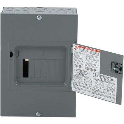 QO 100 Amp 6-Space 12-Circuit Indoor Main Lug Load Center with Surface Mount Cover
