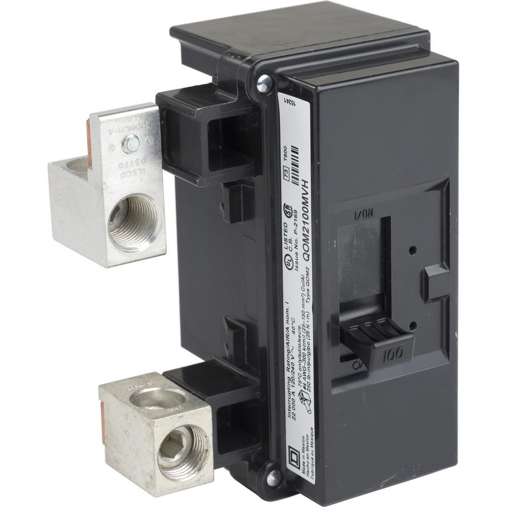QO 100 Amp 22kA 2-Pole Bolt-On QOM2 Frame Size Main Circuit Breaker
