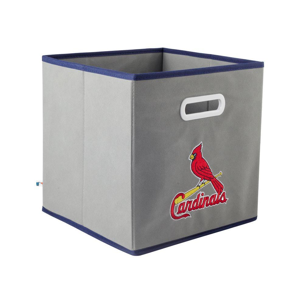 MyOwnersBox MLB STOREITS St. Louis Cardinals 10-1/2 in. x 10-1/2 in. x 11 in. Grey Fabric Storage Drawer