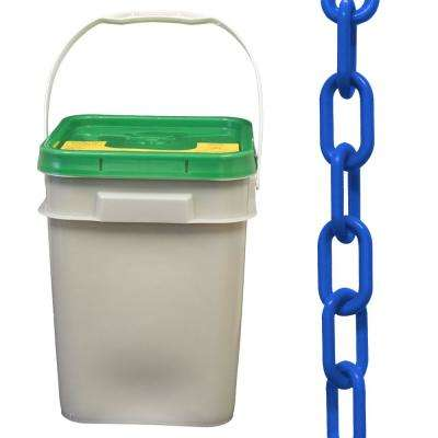 2 in. (#8, 51 mm) x 160 ft. Pail Blue Plastic Chain