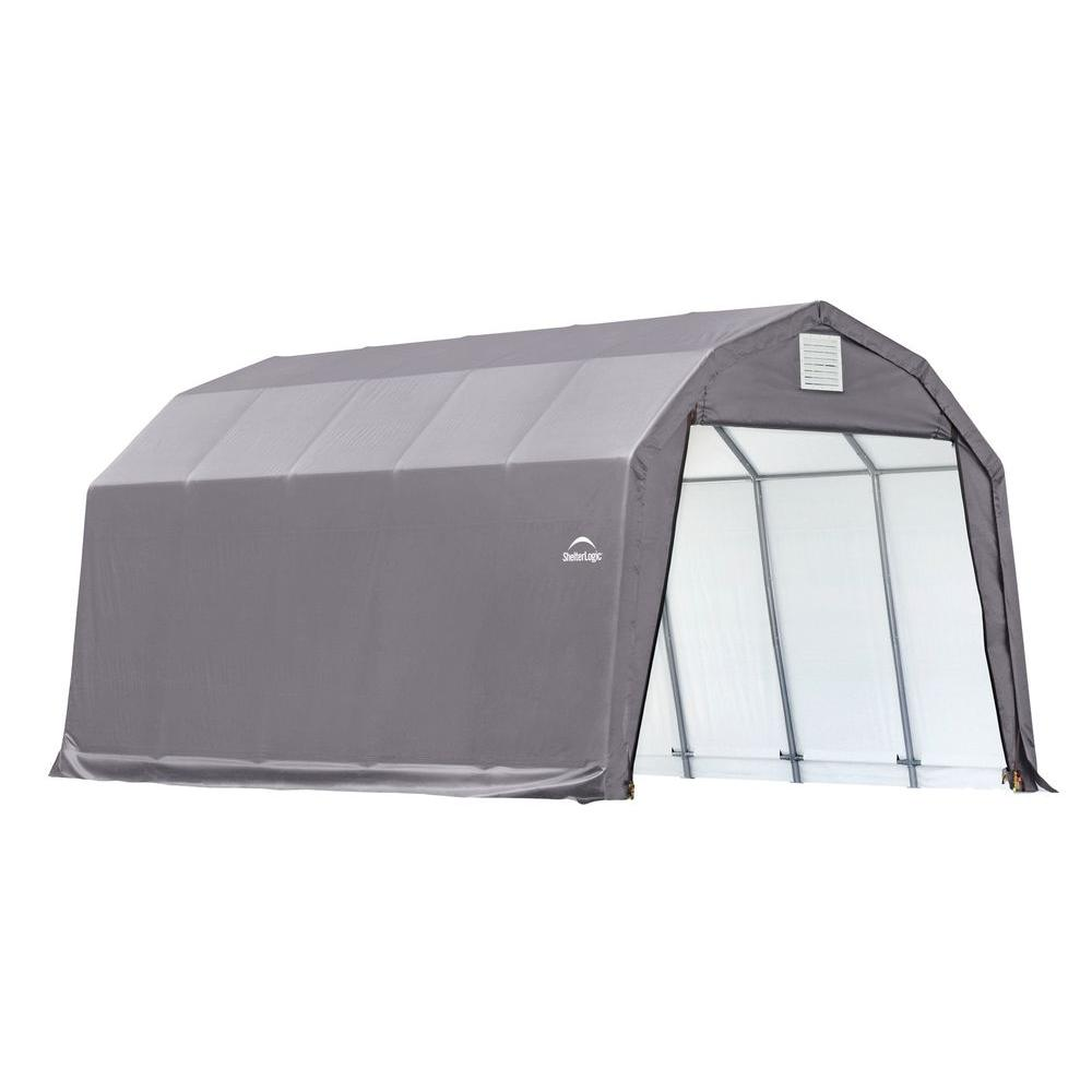 Shelterlogic 12 Ft X 20 Ft X 11 Ft Grey Steel And